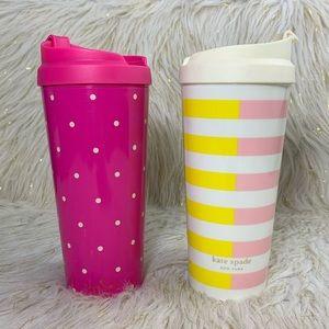 Kate Spade Plastic Coffee/Tea Mugs